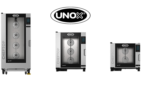 Forni combinati e sistemi di cottura professionali Unox per ristoranti, pasticcerie a Cagliari, Sardegna