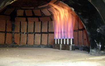Bruciatore per forno pizza pompa depressione for Bruciatore a pellet per forno